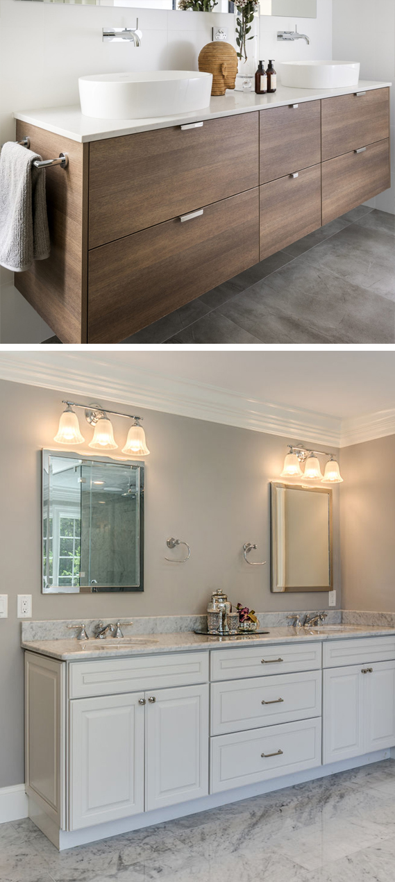 Bathroom vanities with double sink