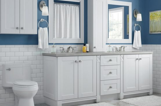 Bathroom vanity with B4007 countertop