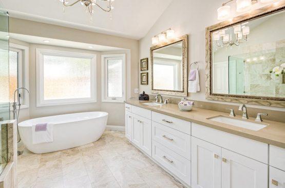 Vanity for spacious bathroom
