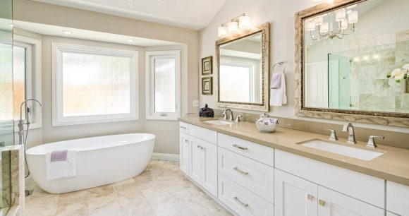 Vanity for spacious bathroom