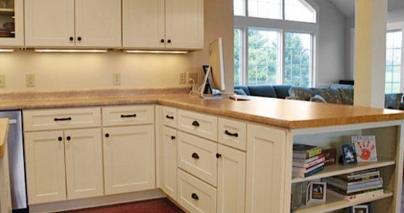 Stylish quartz countertop