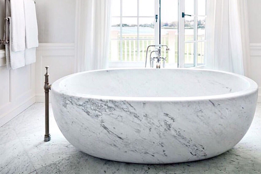Bathroom with tub focus