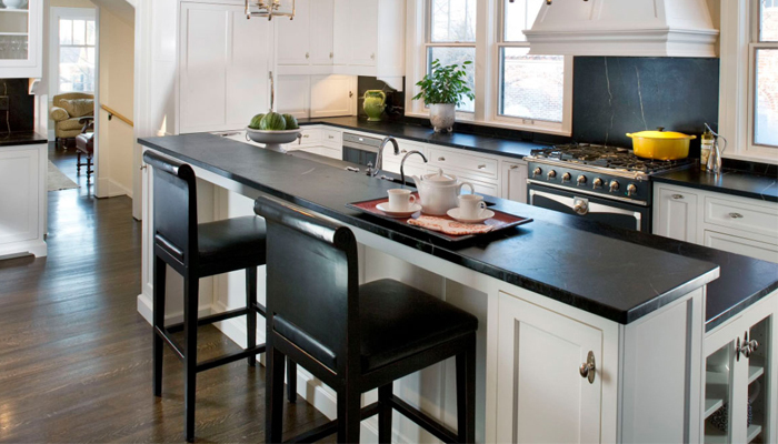 Countertop with white cabinet